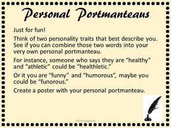 What is a Portmanteau? Activity