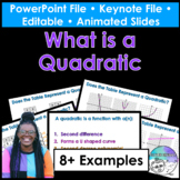 What is a Quadratic PowerPoint/Keynote Presentations