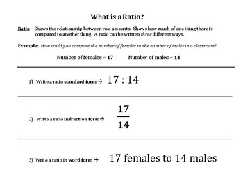 What is a Ratio?