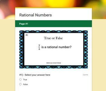 What is a Rational Number?  (Google Form, Interactive Video Lesson & Notes!)