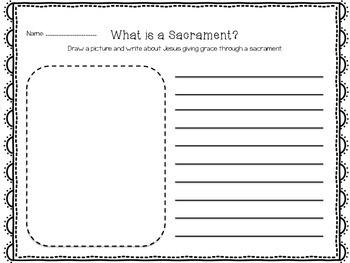 What is a Sacrament? Draw, Write, Pray FREEBIE