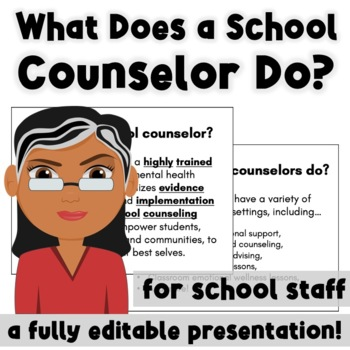 What is a School Counselor? A Presentation for School Staff