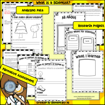 What is a Scientist? 2nd Grade Science Complete Lesson Set