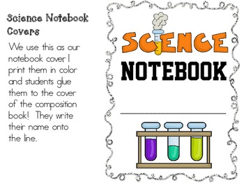 free notebook covers. science & social studies journals ... |Human Studies Science Notebook Cover
