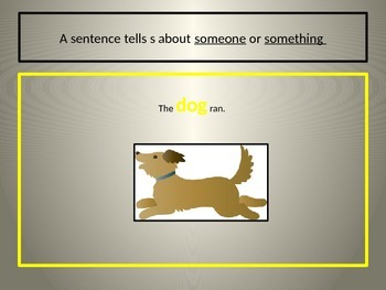 What is a Sentence? Power Point Freebie