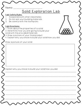 What is a Solid?- 5E Lesson Plan, Differentiated Text, Comprehension Questions