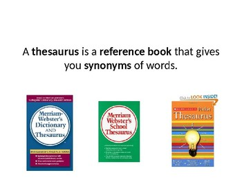 What is a Thesaurus Powerpoint