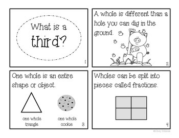 """""""What is a Third?"""" Fraction Book"""