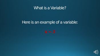 What is a Variable? Powerpoint