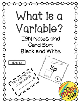 What is a Variable? TEKS 6.7