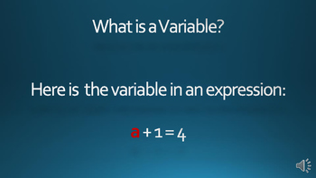What is a Variable?  Video mp4