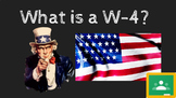 What is a W-4 FREE Google Slides Presentation and Student