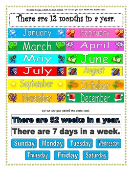 What is a Year?:  A Cut and Paste Booklet Activity