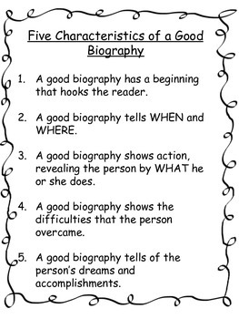 What is a good biography?