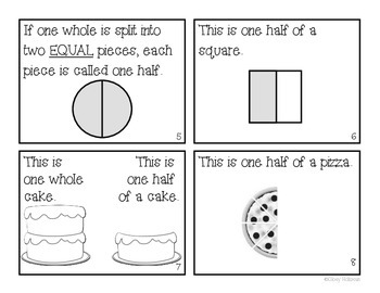 """What is a Half?"" Fraction Book"