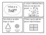 """""""What is a Half?"""" Fraction Book"""