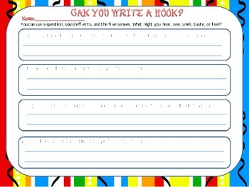 What is a hook? ( Writing activity)
