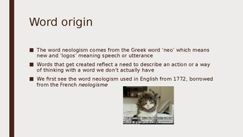 What is a neologism? An Introduction