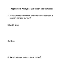 What is a neutron star? Common Core Activity