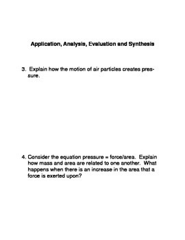What is Pressure? 8th Grade Common Core Reading and Writing activity