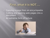 What is a research paper? (accompanies Researching the Decades)