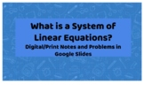 What is a system of linear equations?
