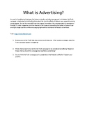 What is advertising? Internet research