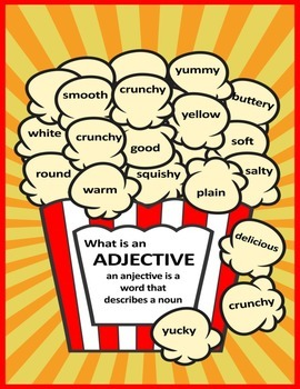 What is an Adjective - Adjective Poster