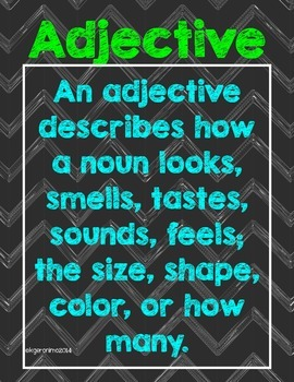 What is an Adjective? Poster