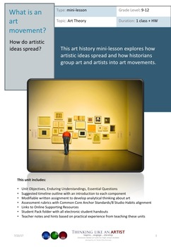 What is an Art Movement? - How do artistic ideas spread?