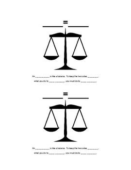 Why is an Equation Like a Balance