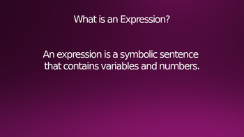 What is an Expression? Powerpoint