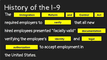 What is an I-9? FREE Google Slides Presentation/Student Notes