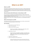 What is an IEP? (student handout)