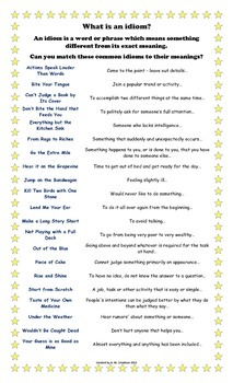 What is an Idiom? Poster