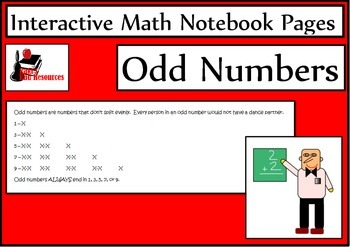 What is an Odd Number?  Lesson for Interactive Math Notebooks