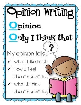 What is an Opinion? Mini-poster for the classroom