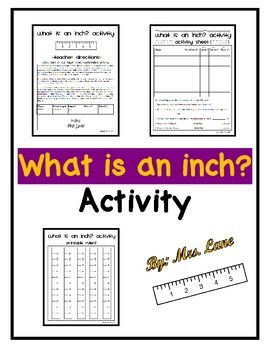 What is an inch? Activity