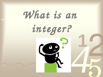 What is an integer?