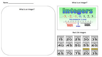 What is an integer? (Google Form & Interactive Video Lesson!)