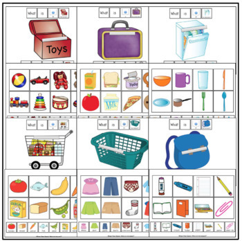 What is in the...? (File Folder Activities for Basic Language)