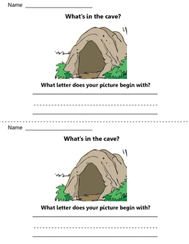 What is in the cave? Write to Learn