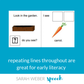 What is in the garden- Interactive Core Vocabulary book