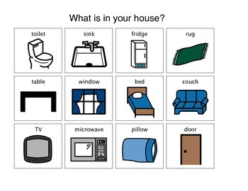 """""""What is in your house?"""" Matching Activity"""