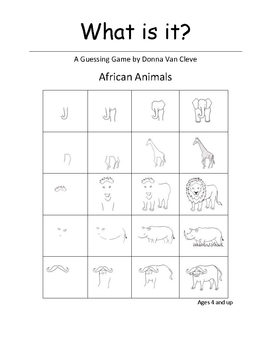 What is it? African Animals - 1: A Guessing Game