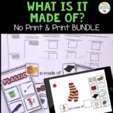 What is it Made Of Describing Activities (Print & No-Print)