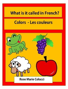 What is it called in French? Colors - Les couleurs