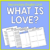Secondary English Unit on Defining and Finding Love