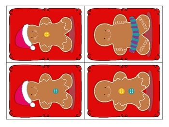 What is missing Gingerbread? - visual discrimination matching activity