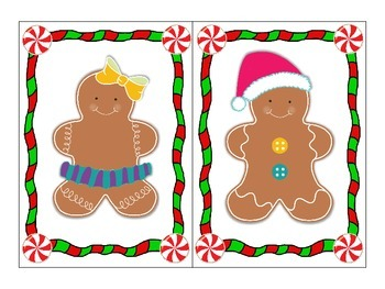 What is missing Gingerbread? - visual discrimination match